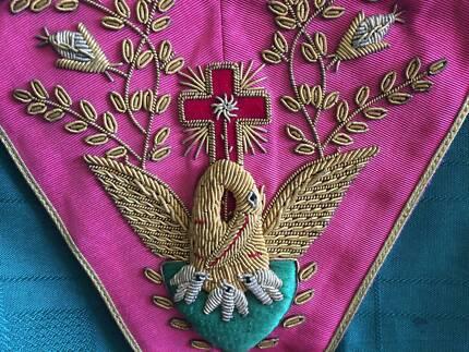 Masonic 18th Degree Rose Croix Collar and Apron