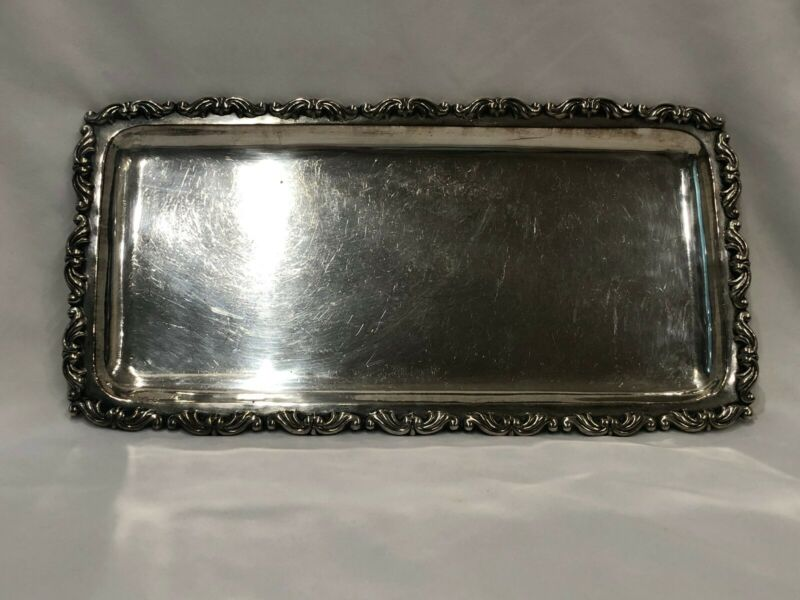 Vintage Egyptian .900 of .925 Sterling Silver Tray - 300 grams - c. 1946-1948