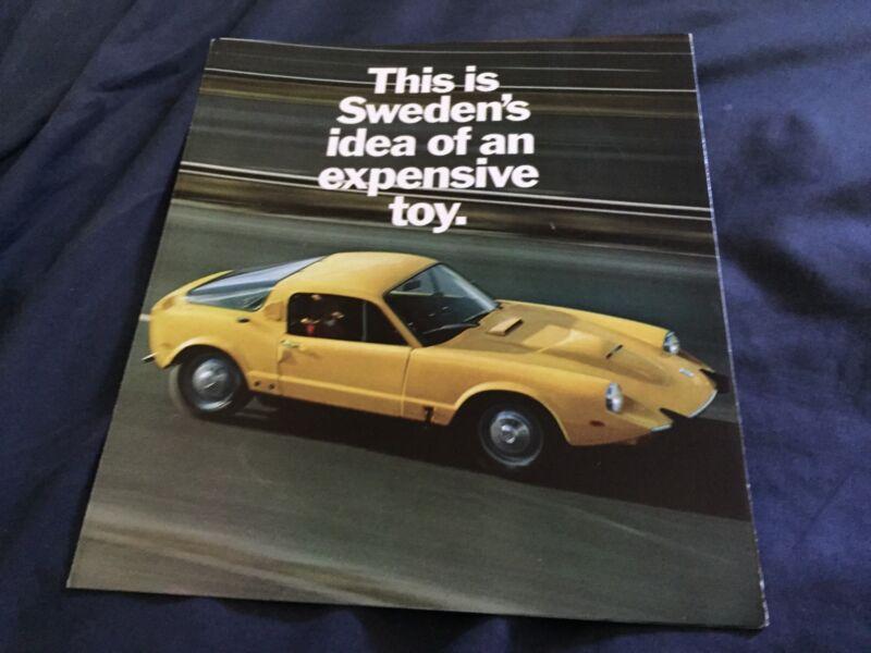 1969 SAAB Sonett Sports Car Color Brochure Catalog Prospekt