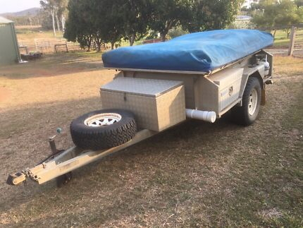 Robust off road camper trailer.
