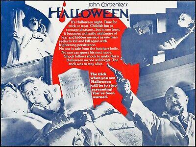 Movie Poster British 1978 John Carpenter's Halloween With Jamie Lee Curtis](Halloween 1978 Jamie Lee Curtis)