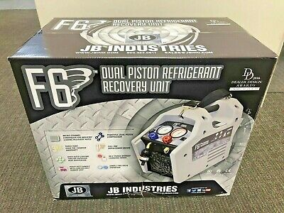 Refrigerant Recovery Machine. Jb Industries F6-dp Dual Piston Oil-less Fast