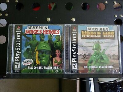 Army Men Sarges Heroes & World War PS1