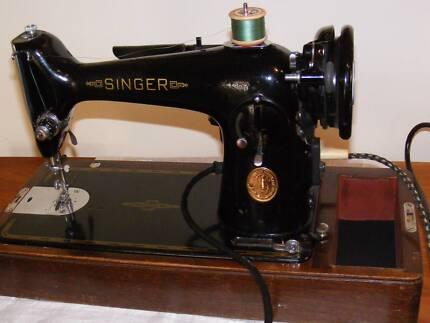 H/DUTY VINTAGE SINGER SEWING MACHINE! SUPERB ELECTRIC/ FOOT PEDAL Morphett Vale Morphett Vale Area Preview
