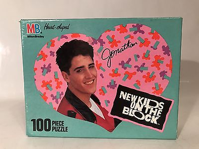 Vintage New Kids On The Block Jonathan Heart Shaped 100 Piece Puzzle Sealed 1990