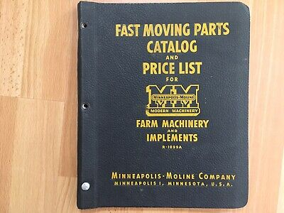 1950 Minneapolis Moline Bf Avery Tractor Equip Service Bulletins Price Binder