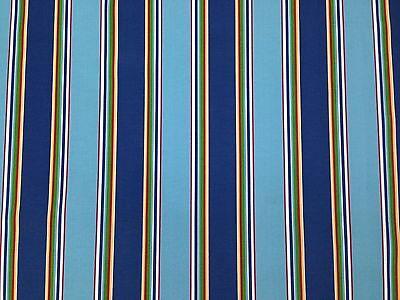 RICHLOOM BONFIRE REGATTA STRIPE BLUE OUTDOOR CUSHION MULTIUSE FABRIC BY THE YARD (Cushion Blue Stripe)