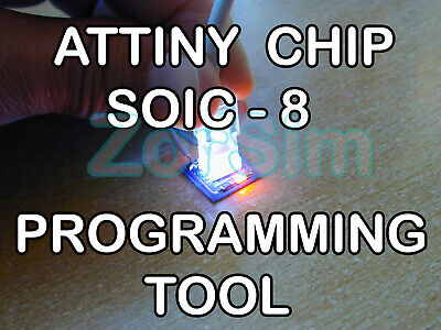 Atmel Attiny Smd Soic-8 Arduino Programmer Adapter With Led Light.