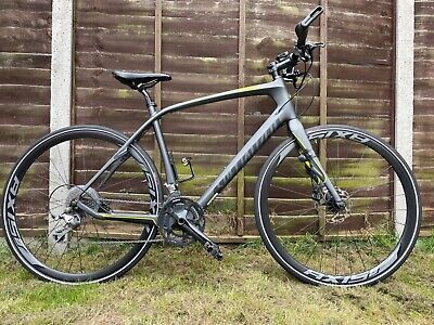 specialized sirrus comp carbon disc bike black in very good condition