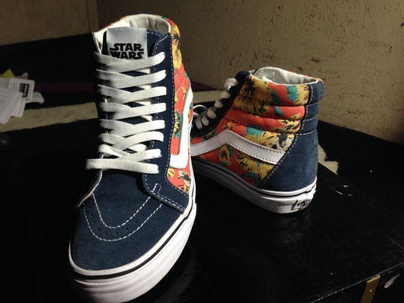 3ef0a58b5c Star Wars x Vans Sk8-hi Yoda Aloha shoes