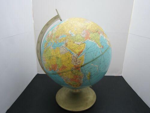 Rand McNally World Globe Earth Vintage With Metal Base