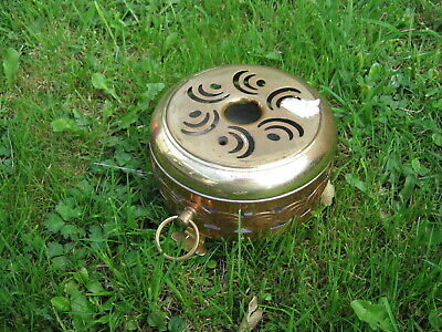 Brass and copper chafing dish food warmer