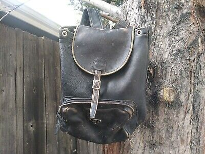 Vintage Prada Leather Full-size Backpack Slightly Distressed DOVE Zippers