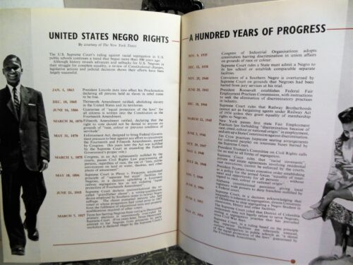 1957 THE AMERICAN NEGRO TODAY A Hundred Years of Progress American British Views