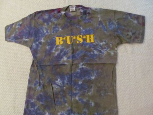 "1997 BUSH TYE-DYE ""RAZOR BLADE SUITCASE"" CONCERT SHIRT-NEVER WORN+BACKSTAGE PASS"