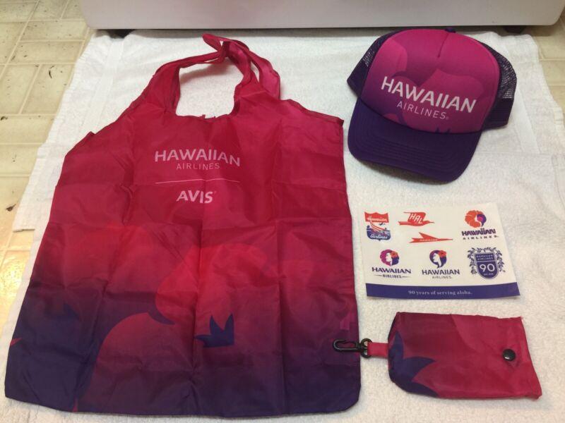 Hawaiian Airlines Cap And Bag