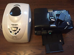 Black and decker bread maker and hp deskjet