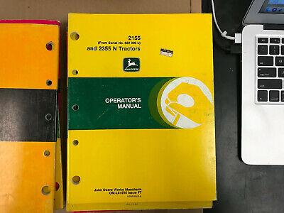 Oem John Deere Operators Manual 2155 2355 Tractor F7