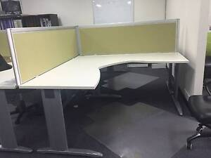 Modern corner workstation/ office desk  with screen (Near New) Gladesville Ryde Area Preview