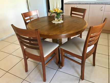 Near New Dining Table And Four Chairs