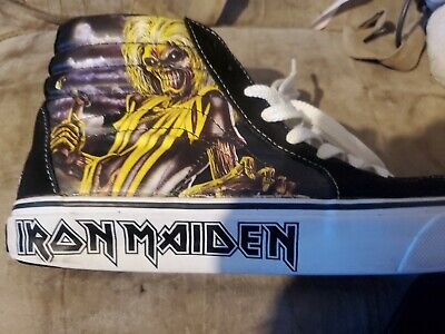 Vans × IRON MAIDEN SK8-Hi KILLERS Rare Skateboarding Heavy Metal , Men's Size 9