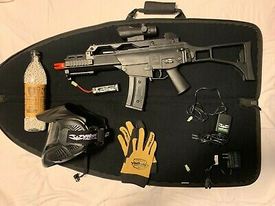 H&K AEG G36C 6mm BB Semi Auto/Auto Black/ Includes Valken accessories  Bb Gun Accessories