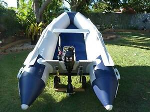 Inflatable Boat Blueline with 3.6HP Parsuns Motor Gympie Gympie Area Preview