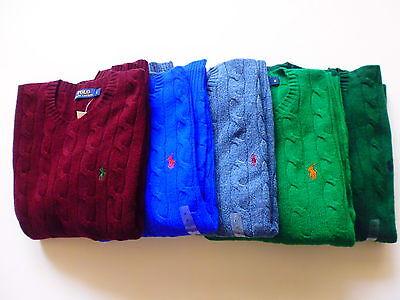 Polo Ralph Lauren Herren Pullover, Rundhals Kabel Rein wolle Pullover Größe;S-XL ()