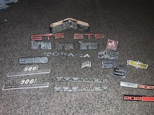 Genuine old school badges. TORANA, GTS