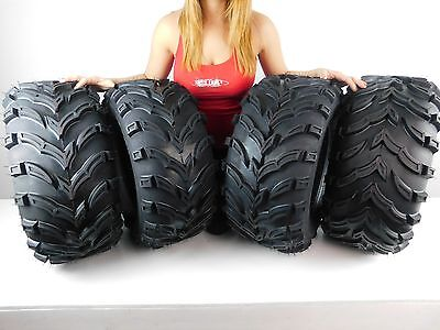 Set of 4 NEW MASSFX Claw 26x9 12 Front 26x11 12 Rear ATV Tires Bear K299 6ply