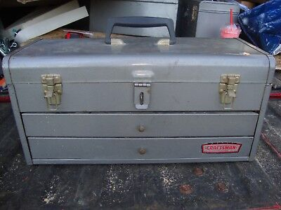Vintage Craftsman Toolbox 2 Drawers!  with drawer inserts