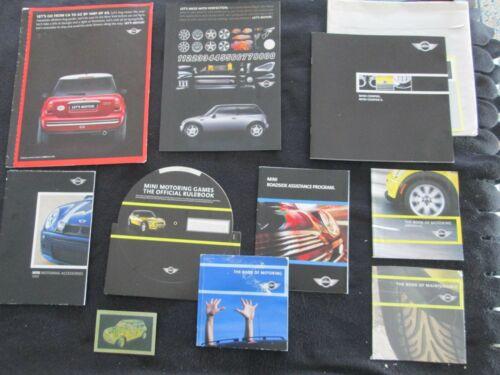 2002 2003 MINI Cooper & S Deluxe Brochure & 9 Motoring Catalog Accessory Set BMW