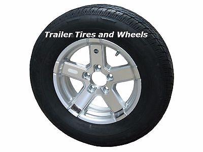 "07SR 175/80R13 LRC 6 PR Radial Trailer Tire on 13"" 5 Lug Aluminum Trailer Wheel"