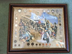 Framed 35 Canada Coins of the 20th Century