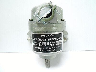 Aca-2 Standco Motor 50 V Per 1000 Rpm New Old Stock A.c. Tachometer