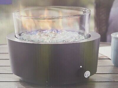 BETTER HOMES AND GARDEN ROUND GAS PROPANE BURNING TABLETOP PATIO FIRE