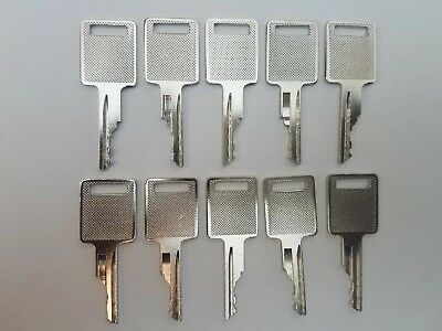 10 Bobcat Case Excavator Heavy Equipment Keys With Logo On 1 Side Bobcat