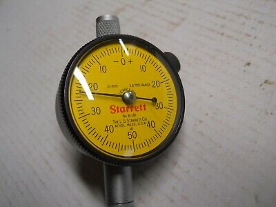 Starrett 81-181 Metric. Dial Indicator .01mm  Slightly Used