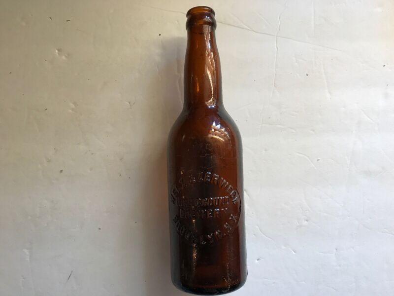 Welz & Zerweck Highground Brewery Vintage Amber Beer Bottle, Brooklyn, N.Y.