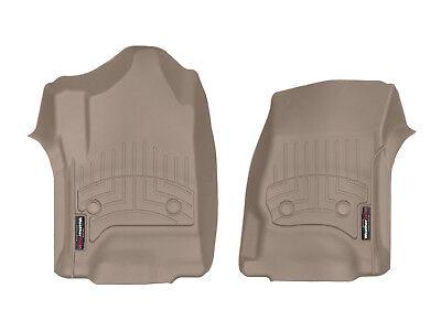 Mats Car Truck 2 Piece - WeatherTech Custom Car/Truck Floor Mats FloorLiner 456071 1st Row 2-Piece Tan