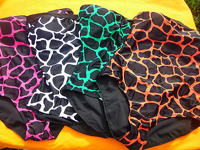 Badeanzug Damen Animal Print versch. Farben Neu trägerlos tragbar Bandeau