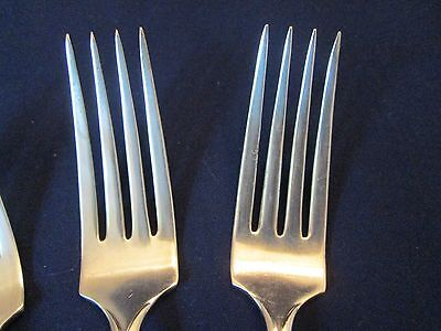 """SET 4 LUNCHEON FORKS! Vintage Wm ROGERS silverplate PICKWICK pattern: """"A"""" LOVELY"""