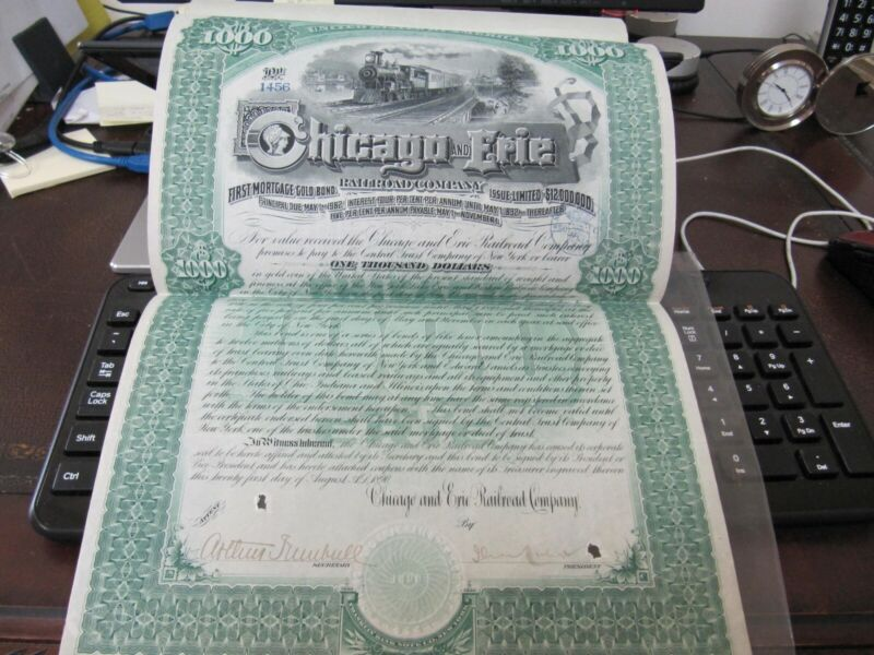 Chicago & Erie Railroad First Mortgage dated 1891