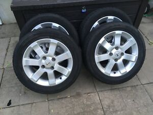 4 summer tires with mag 205/55/16  (4x114.3)