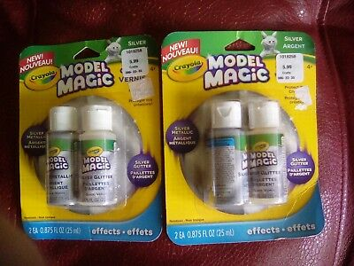 (2 Crayola Model Magic New Silver Metallic effects for clay)