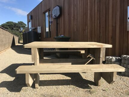 Outdoor picnic table. Outdoor Timber Picnic Tables  5 sizes    Outdoor Dining Furniture