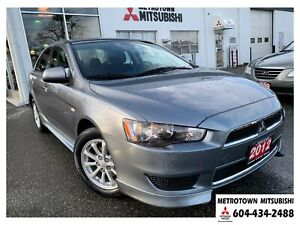 2012 Mitsubishi Lancer SE; Local BC vehicle! LOW KMS!