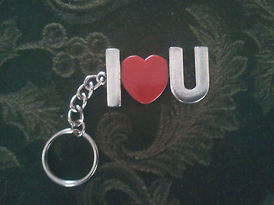 - 1 SWEETHEART I LOVE YOU with HEART PEWTER KEYCHAIN ALL NEW