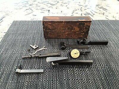 Vintage Brown Sharpe Test Master Dial Test Indicator .0001 Original Wood Box
