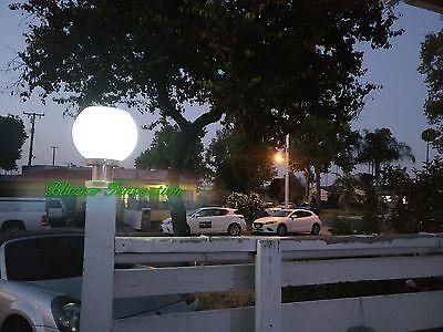 Outdoor Solar Power LED Path Lite Landscape Mount Garden Fence Lamp Round Light  for sale  Hacienda Heights